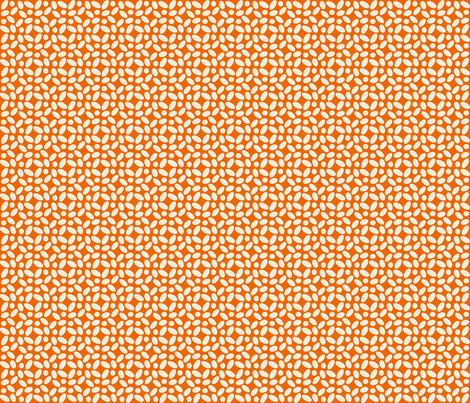 Cobblestones - Orange fabric by zuzana_licko on Spoonflower - custom fabric