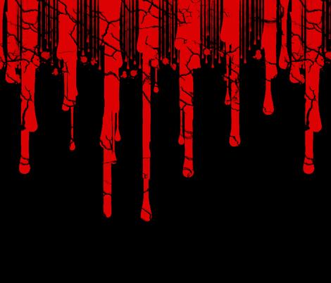 Cracked Blood Drip fabric by lanrete58 on Spoonflower - custom fabric