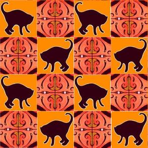 Black Cats and Orange Lanterns
