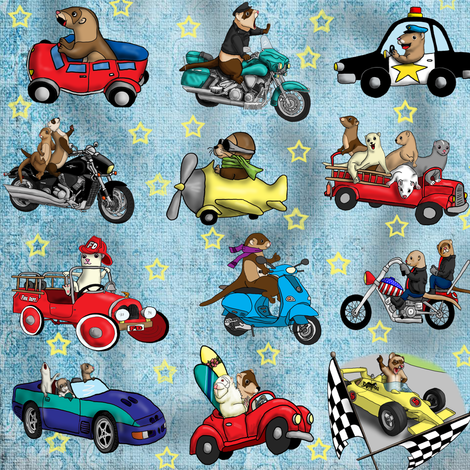 Ferret_Boys fabric by deva_kolb on Spoonflower - custom fabric