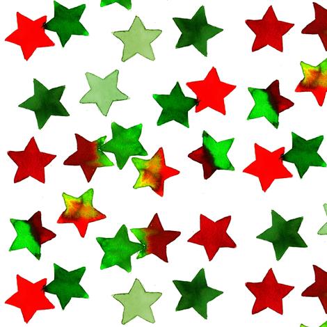 christmas stars dark fabric by erinanne on Spoonflower - custom fabric