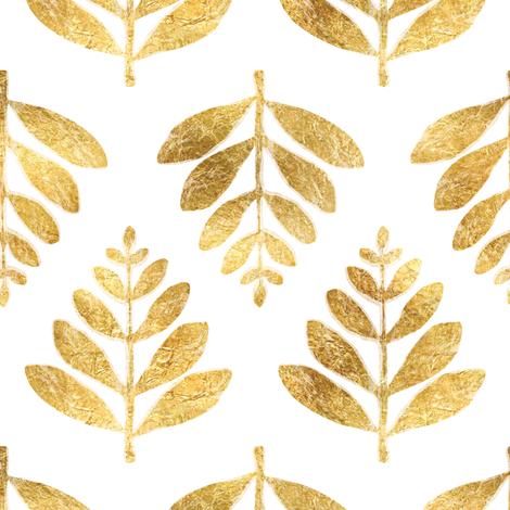 Lau (Leaf) - Gold fabric by nick_neuman on Spoonflower - custom fabric