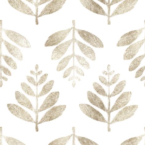 Lau (Leaf) - Silver fabric by nick_neuman on Spoonflower - custom fabric