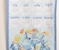 2017 Tea Towel Calendar - Elefun