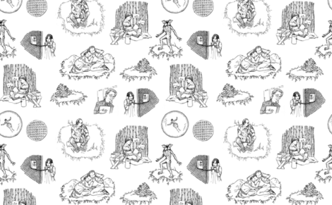 ST Toile 1 Black and White fabric by julieprescesky on Spoonflower - custom fabric