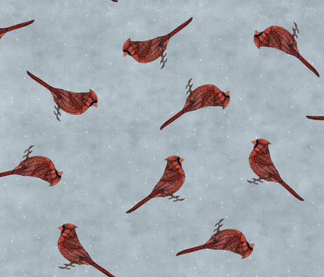 Cardinals fabric by zhfield on Spoonflower - custom fabric