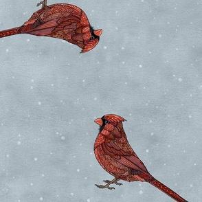 Zentangle Cardinals