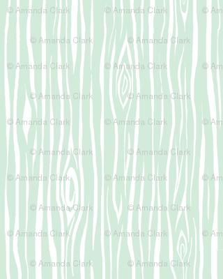 Woodgrain small - greenmint/white