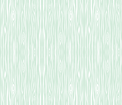 Woodgrain small - greenmint/white fabric by sugarpinedesign on Spoonflower - custom fabric