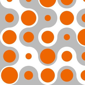 Connecting Dots - Orange Grey