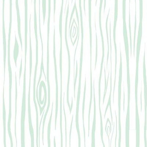 woodgrain small - mint and white