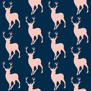 Buck- coral/navy - Sweetbrook- baby girl woodland nursery