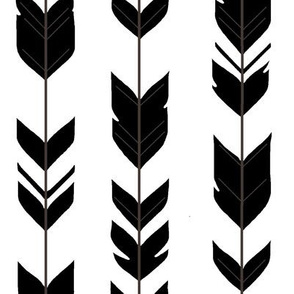 Arrow Feathers - black and white