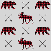moose, bear, and arrows (fog) || the happy camper collection