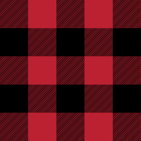 buffalo plaid || the happy camper collection fabric by littlearrowdesign on Spoonflower - custom fabric