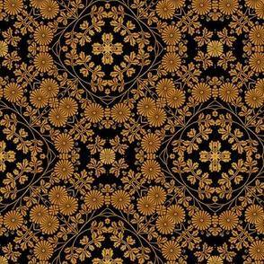 Victorian golden floral