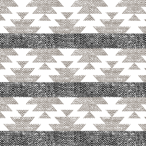 woven aztec || neutrals fabric by littlearrowdesign on Spoonflower - custom fabric