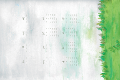 Painted Landscape Tea Towel 2017 fabric by radianthomestudio on Spoonflower - custom fabric