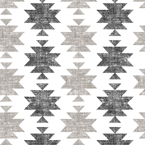 modern aztec || woven neutrals fabric by littlearrowdesign on Spoonflower - custom fabric