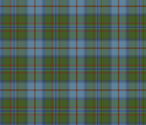 Maine official (Dirigo) tartan, antique colors fabric by weavingmajor on Spoonflower - custom fabric