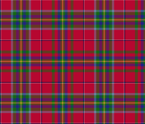"West Virginia official tartan, 12"" repeat fabric by weavingmajor on Spoonflower - custom fabric"