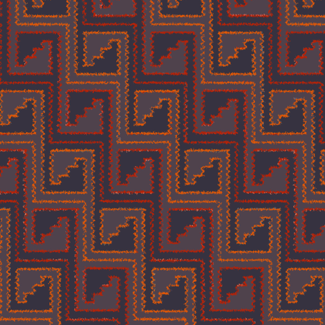 Two Steppe (Orange) fabric by david_kent_collections on Spoonflower - custom fabric