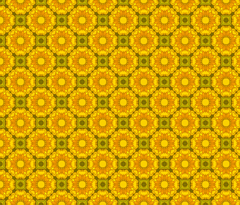 1970's floral fabric by hollywood_royalty on Spoonflower - custom fabric