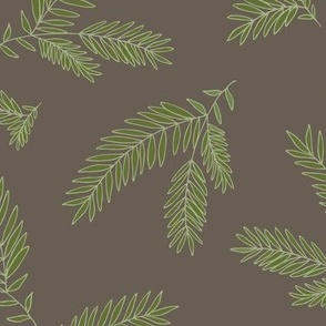 Pine Sprig Ivy on Earth Brown