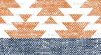 woven aztec || orange
