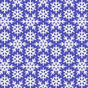 snow on snow : indigo blue