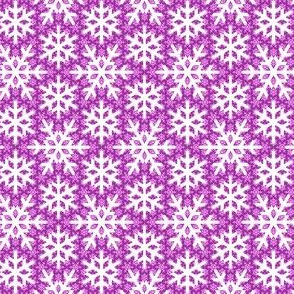 snow on snow : magenta purple
