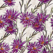 "Purple Floral Design: ""Purple Drama"""