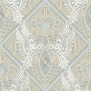 love bird lace silver