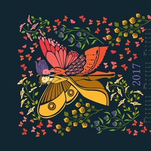 2017 Calendar The Moth and the Butterfly