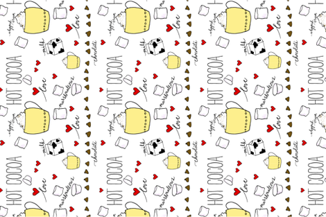 Granny's Hot Cocoa fabric by ann_marie_drury on Spoonflower - custom fabric