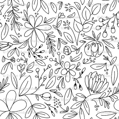 flower garden outlines fabric writinghomedesigns