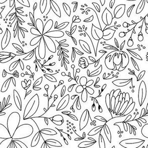Flower Garden Outlines