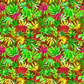 Tropical Cannabis Leaves