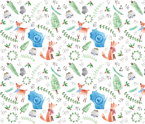 Wisconsin Christmas fabric by studiocarrie on Spoonflower - custom fabric