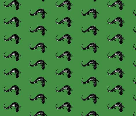 Salamanders - Green fabric by wendybarnesdesign on Spoonflower - custom fabric
