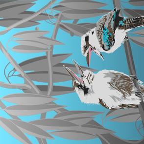 Kookaburras Tell great Jokes Tea Towel