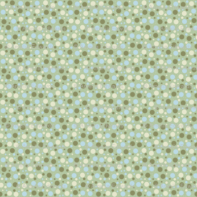 Scattered Dots - Soft Greens and Blues