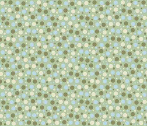 Scattered Dots - Soft Greens and Blues fabric by ameliae on Spoonflower - custom fabric