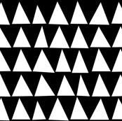 White Triangles on Black by Minikuosi