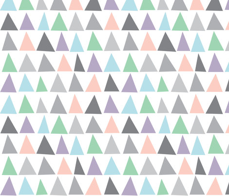 Geometric triangles pastel colours blush pink and grey for Pink and grey nursery fabric