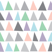 Geometric Triangles Pastel Colours Blush Pink and Grey / Scandinavian Baby Nursery Triangles