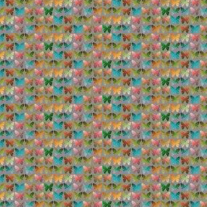 TINY Fall multicolored butterflies on gray by Su_G