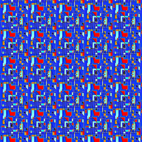 Blue & Red Geometric