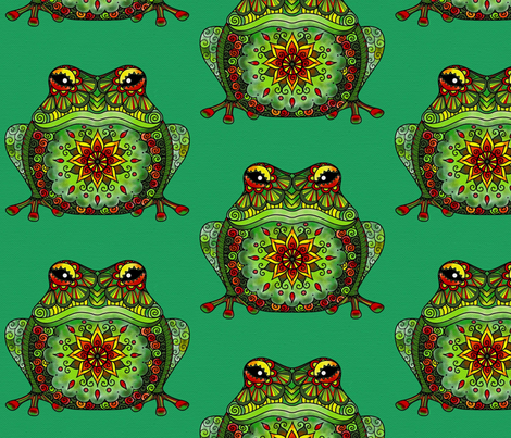 Jewel Frog 2 fabric by floramoon on Spoonflower - custom fabric