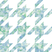 painted giant houndstooth - blue and green